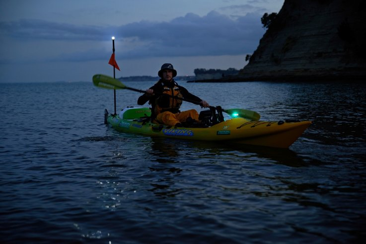 Viking kayaks nz be seen on the water at night with for Kayak lights for night fishing