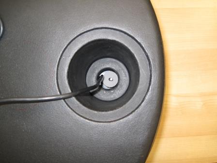 Reload Tackle Pod, top view with transducer in place